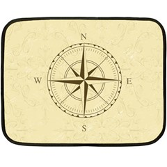 Compass Vintage South West East Double Sided Fleece Blanket (Mini)