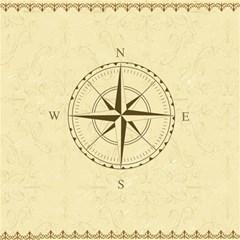 Compass Vintage South West East Magic Photo Cubes