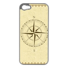 Compass Vintage South West East Apple iPhone 5 Case (Silver)