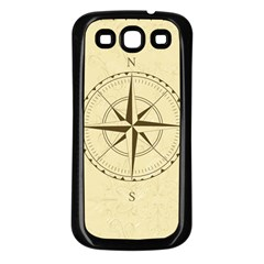 Compass Vintage South West East Samsung Galaxy S3 Back Case (Black)