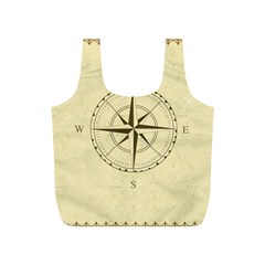 Compass Vintage South West East Full Print Recycle Bags (S)