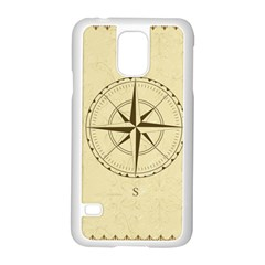 Compass Vintage South West East Samsung Galaxy S5 Case (White)