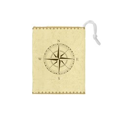 Compass Vintage South West East Drawstring Pouches (Small)