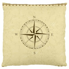 Compass Vintage South West East Large Flano Cushion Case (Two Sides)