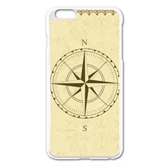 Compass Vintage South West East Apple iPhone 6 Plus/6S Plus Enamel White Case