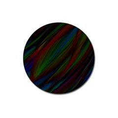 Dark Background Pattern Magnet 3  (Round)