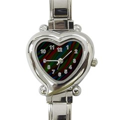 Dark Background Pattern Heart Italian Charm Watch