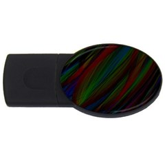 Dark Background Pattern USB Flash Drive Oval (4 GB)
