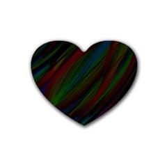 Dark Background Pattern Heart Coaster (4 pack)