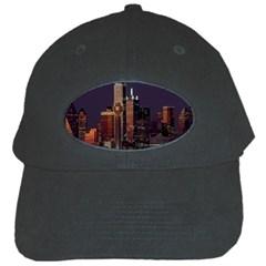 Dallas Texas Skyline Dusk Black Cap