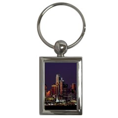 Dallas Texas Skyline Dusk Key Chains (Rectangle)