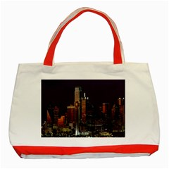 Dallas Texas Skyline Dusk Classic Tote Bag (Red)