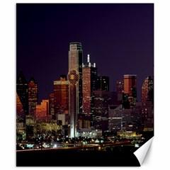 Dallas Texas Skyline Dusk Canvas 8  x 10