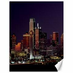 Dallas Texas Skyline Dusk Canvas 12  x 16