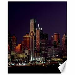 Dallas Texas Skyline Dusk Canvas 16  X 20