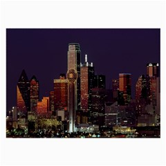 Dallas Texas Skyline Dusk Large Glasses Cloth (2-Side)