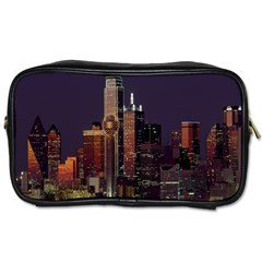 Dallas Texas Skyline Dusk Toiletries Bags