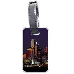 Dallas Texas Skyline Dusk Luggage Tags (One Side)