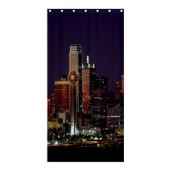Dallas Texas Skyline Dusk Shower Curtain 36  x 72  (Stall)