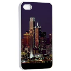Dallas Texas Skyline Dusk Apple iPhone 4/4s Seamless Case (White)