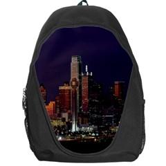 Dallas Texas Skyline Dusk Backpack Bag