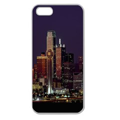 Dallas Texas Skyline Dusk Apple Seamless iPhone 5 Case (Clear)