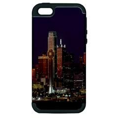 Dallas Texas Skyline Dusk Apple iPhone 5 Hardshell Case (PC+Silicone)