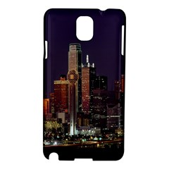 Dallas Texas Skyline Dusk Samsung Galaxy Note 3 N9005 Hardshell Case