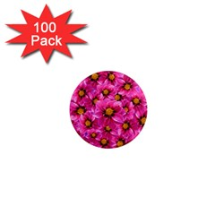 Dahlia Flowers Pink Garden Plant 1  Mini Magnets (100 pack)