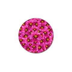 Dahlia Flowers Pink Garden Plant Golf Ball Marker (10 pack)