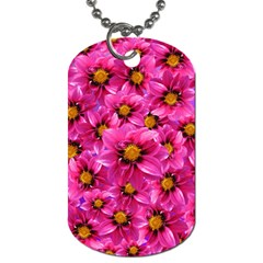 Dahlia Flowers Pink Garden Plant Dog Tag (two Sides)