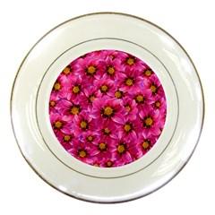 Dahlia Flowers Pink Garden Plant Porcelain Plates