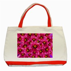 Dahlia Flowers Pink Garden Plant Classic Tote Bag (Red)
