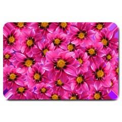 Dahlia Flowers Pink Garden Plant Large Doormat