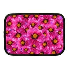 Dahlia Flowers Pink Garden Plant Netbook Case (Medium)