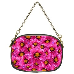 Dahlia Flowers Pink Garden Plant Chain Purses (One Side)