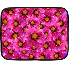 Dahlia Flowers Pink Garden Plant Double Sided Fleece Blanket (Mini)