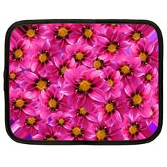Dahlia Flowers Pink Garden Plant Netbook Case (XXL)
