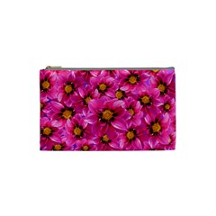 Dahlia Flowers Pink Garden Plant Cosmetic Bag (Small)