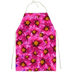 Dahlia Flowers Pink Garden Plant Full Print Aprons