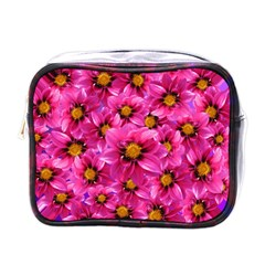 Dahlia Flowers Pink Garden Plant Mini Toiletries Bags