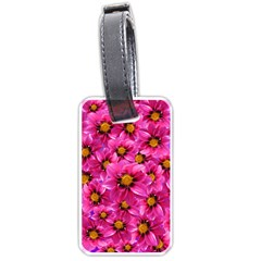 Dahlia Flowers Pink Garden Plant Luggage Tags (One Side)