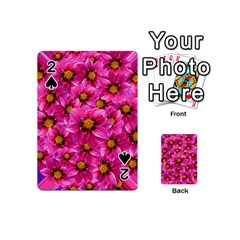 Dahlia Flowers Pink Garden Plant Playing Cards 54 (Mini)
