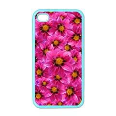 Dahlia Flowers Pink Garden Plant Apple iPhone 4 Case (Color)
