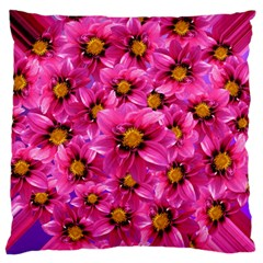 Dahlia Flowers Pink Garden Plant Large Cushion Case (Two Sides)