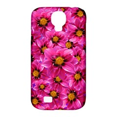 Dahlia Flowers Pink Garden Plant Samsung Galaxy S4 Classic Hardshell Case (pc+silicone)