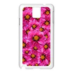Dahlia Flowers Pink Garden Plant Samsung Galaxy Note 3 N9005 Case (white)
