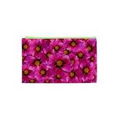 Dahlia Flowers Pink Garden Plant Cosmetic Bag (XS)