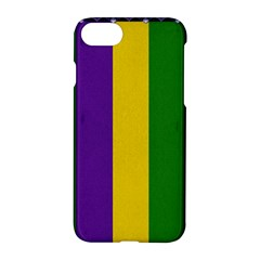 Mardi Gras Striped Pattern Apple Iphone 7 Hardshell Case