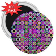 Design Circles Circular Background 3  Magnets (100 pack)